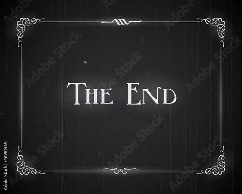 Photo  Movie ending screen - Editable Vector.