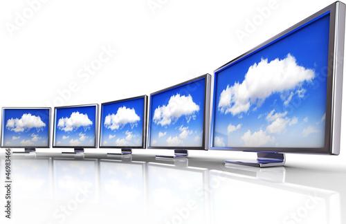 Fotografie, Obraz  cloud monitor