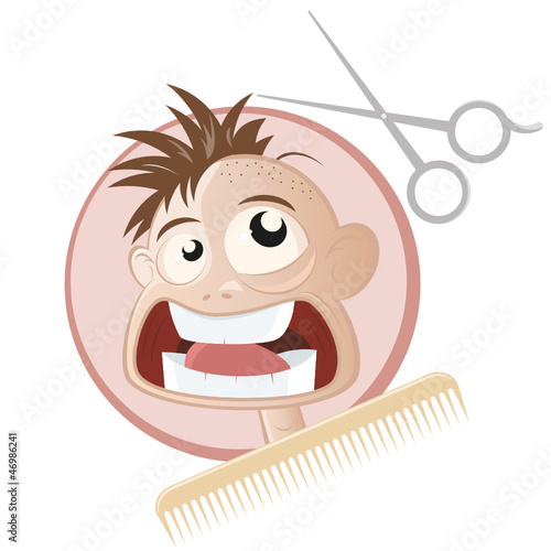 Friseur Lustig Buy This Stock Vector And Explore Similar Vectors