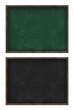 Blank green and black blackboard set