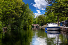 Hire Boats On The River Wensum In Norfolk England