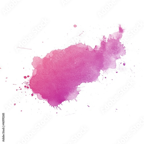 Deurstickers Vormen Colorful Abstract watercolor art hand paint on white background