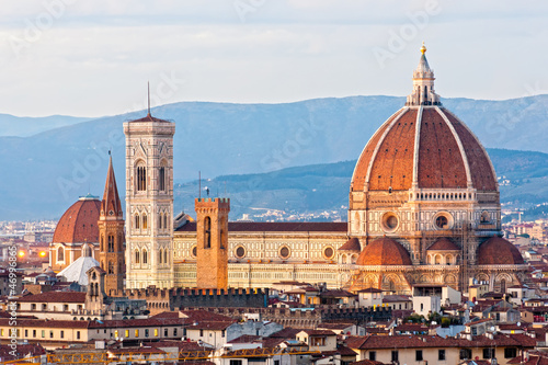 Spoed Foto op Canvas Florence Florence, Duomo and Giotto's Campanile.