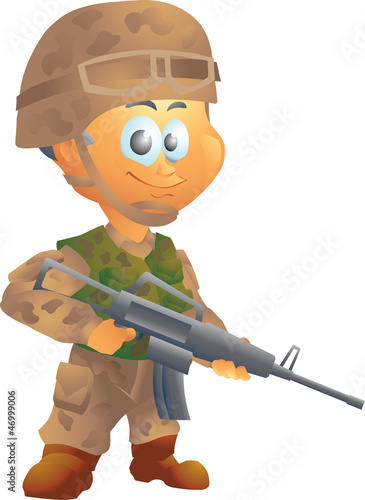 Deurstickers Militair Army soldier
