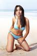 woman on sandy beach l