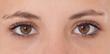 canvas print picture - Braune Augen eines attraktiven Mädchens