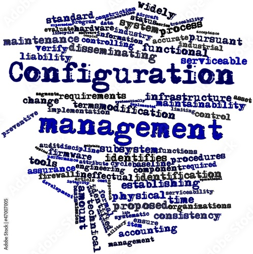 Photo  Word cloud for Configuration management