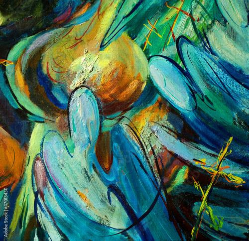 boze-narodzenie-anioly-nad-kopula-kosciola-ilustracja-malarstwo