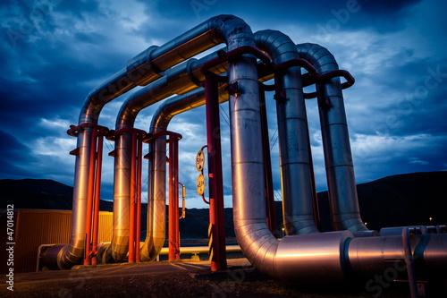 Photo  geothermal energy pipeline