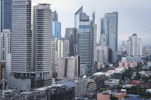 makati avenue manila cityscpe philippines