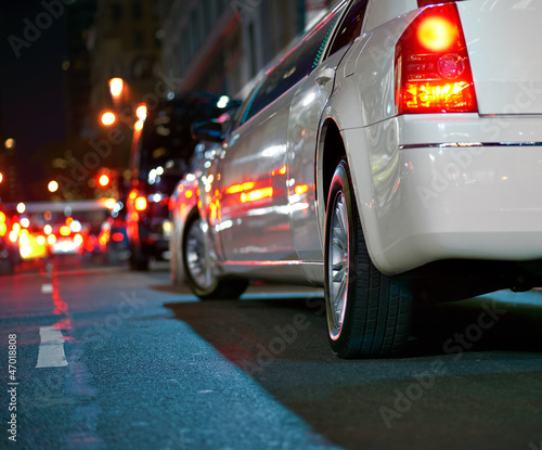 white limousine Slika na platnu