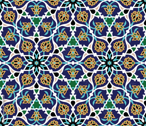 La pose en embrasure Tuiles Marocaines Safar Seamless Pattern Two