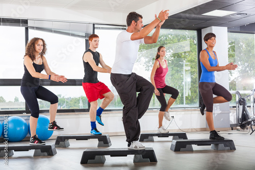 Photo Aerobics Class in a Gym