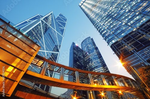 Modern office buildings in  Hong Kong. Canvas Print