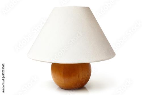 Fotografie, Obraz  White table lamp