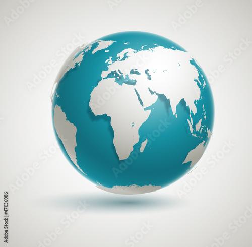 Fotografie, Obraz  Vector Globe Icon