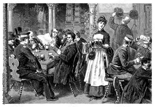 Country Tavern - 19th century Canvas Print