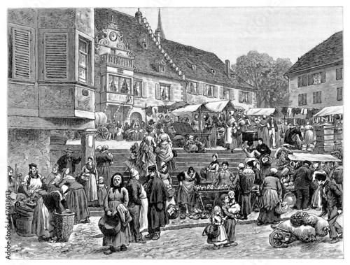 Photo Rural Market - 19th century