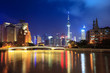 suzhou river at night in shanghai