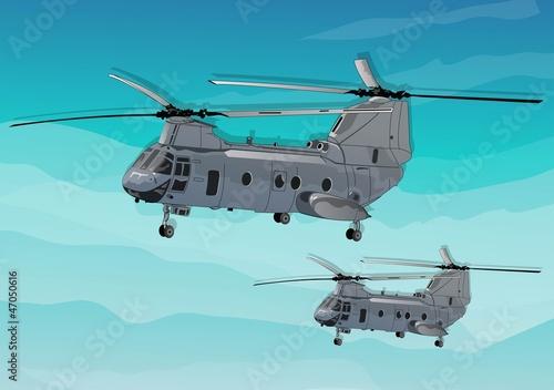 Deurstickers Militair army helicopters