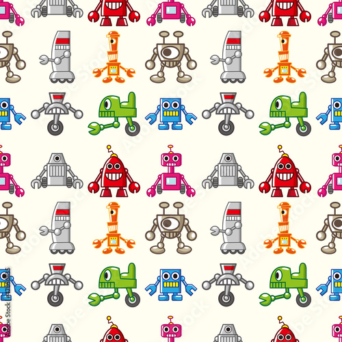 Canvas Prints Robots seamless Robot pattern