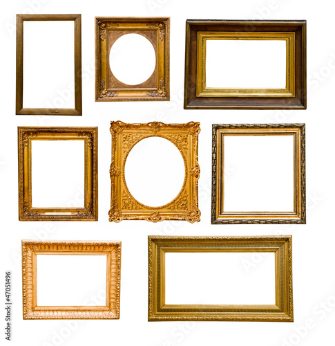 Set Of Vintage Gold Frames Buy This Stock Photo And Explore