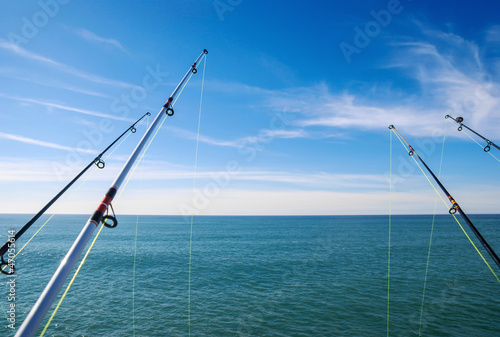 Fotobehang Vissen fishing on deep ocean