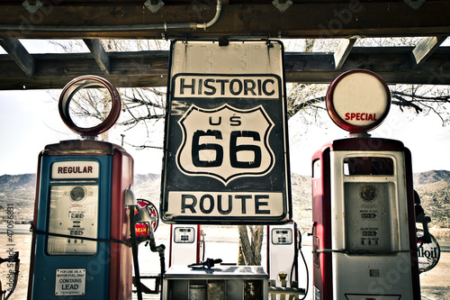 Poster Retro Hisotric Route 66