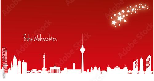Weihnachtskarten Berlin.Berlin Weihnachtskarte 21 X 11 Cm Kaufen Sie Diese Vektorgrafik