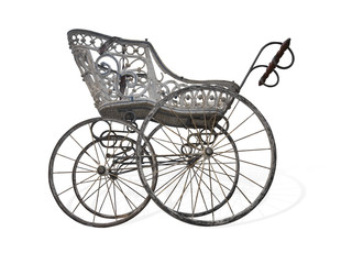 Fototapeta na wymiar ancient stroller