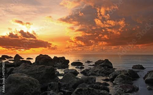 Aluminium Prints Salmon The Cove Sunset