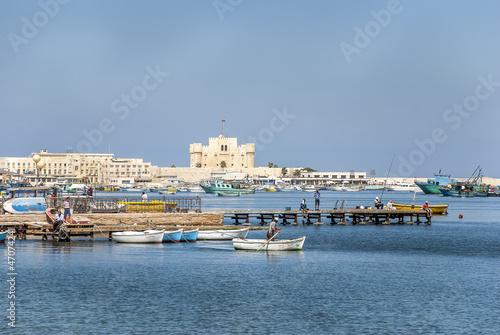 Obraz na plátně Baie d'Alexandrie et fort de Qaytbay