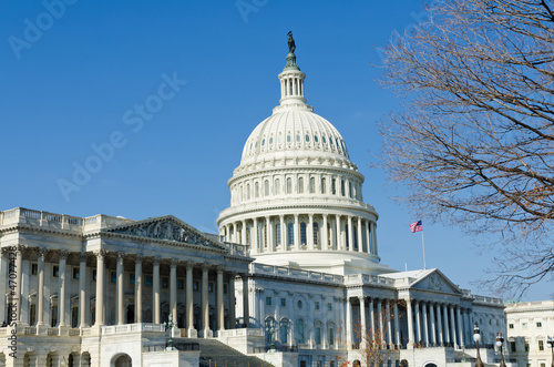 Fotografia, Obraz  US Capitol in Washington DC in winter