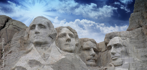 Canvas Print Colors of the sky above Mount Rushmore - South Dakota