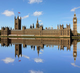 Fototapeta Londyn - Houses of Parliament and Big Ben in Westminster, London.