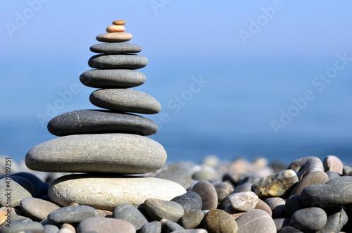 Acrylic Prints Stones in Sand Морские камни на берегу моря