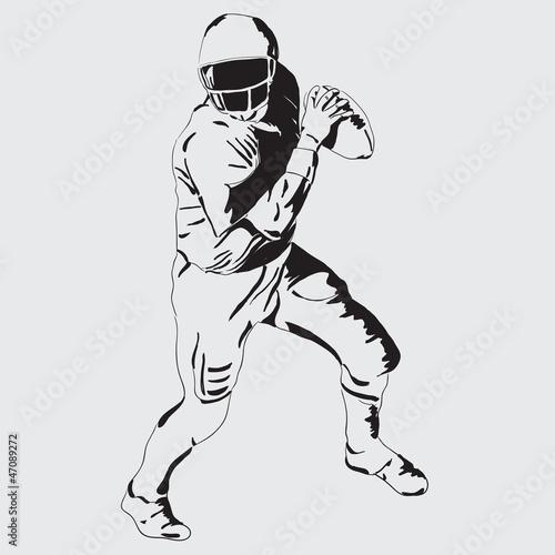 Fotografie, Tablou  quarterback