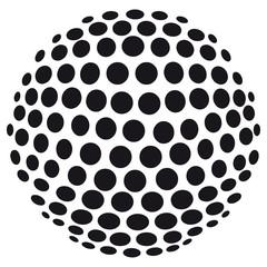 Obraz na Szkle Abstrakte 3D-Kugel aus Kreisen - freigestellt