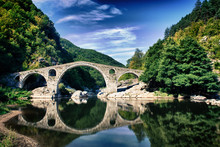 HDR Photo Of Devil's Bridge Near Ardino, Bulgaria