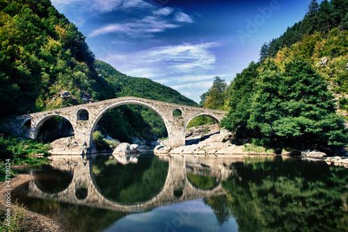 HDR Photo of Devil's Bridge near Ardino, Bulgaria