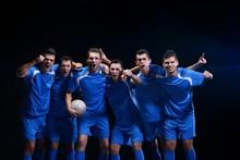 Soccer Players Celebrating Vic...
