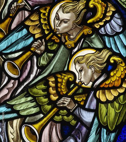 Obraz na plátně Angels making music