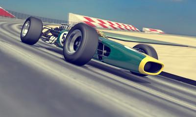 Fototapeta Formuła 1 vintage racer
