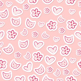 Cute feminine seamless pattern