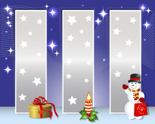 Christmas And New Year Billboards.