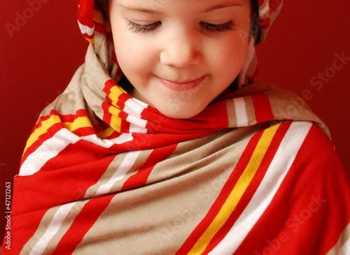 Fotografie, Obraz  A little girl in tucker