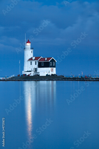 Photo Stands Horses Lighthouse Paard van Marken, Netherlands