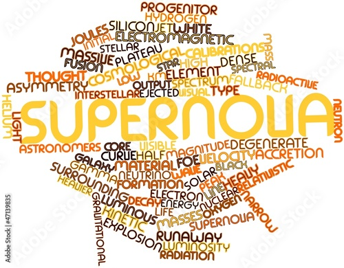 Word cloud for Supernova Fototapet