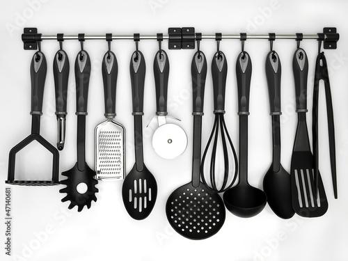 Pinturas sobre lienzo  .kitchen utensils