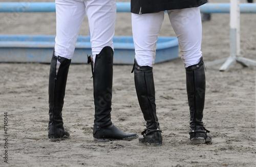 Fotobehang Paardrijden deux cavaliers